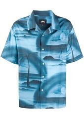Stussy palm tree print shirt