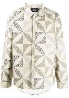 Stussy quilt pattern shirt