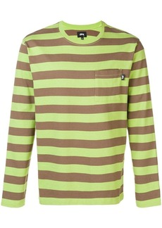 Stussy striped long sleeve top
