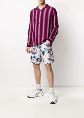 Stussy striped print shirt