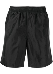 Stussy logo stripe print elasticated waist shorts