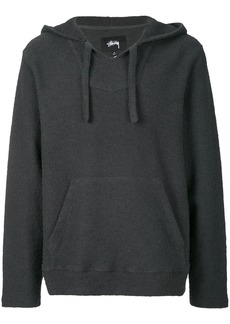 Stussy back print hooded sweatshirt - Grey