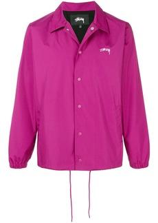 Stussy button shirt jacket - Pink & Purple