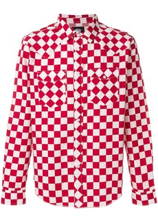 Stussy checked western shirt - Red
