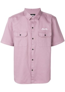 Stussy chest pocket shirt - Pink & Purple