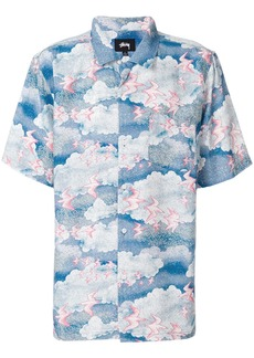 Stussy cloud print shirt - Blue
