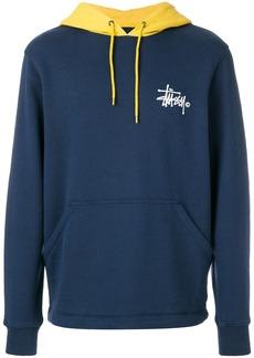 Stussy contrast logo hoodie - Blue
