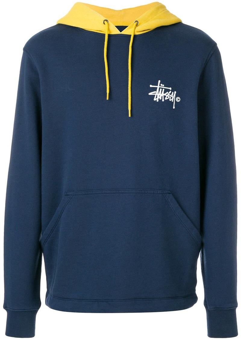 5f7822a06741 Stussy contrast logo hoodie