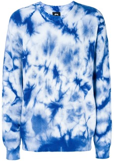 Stussy gradient long-sleeve sweatshirt - Blue