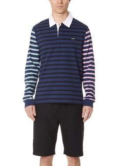 Stussy Jonah Stripe Long Sleeve Rugby Shirt