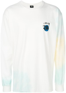 Stussy logo long-sleeve sweatshirt - White