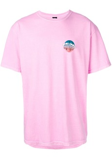 Stussy logo patch T-shirt - Pink & Purple