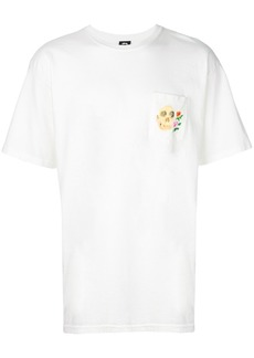 Stussy logo patch T-shirt - White