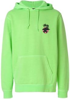 Stussy logo print hoodie - Green