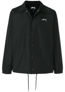 Stussy logo print shirt jacket - Black