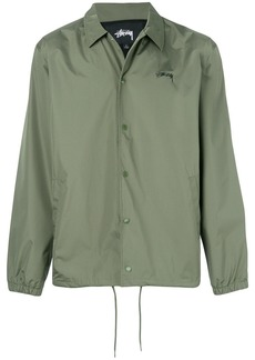 Stussy logo print shirt jacket - Green