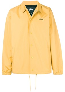 Stussy logo print shirt jacket - Yellow & Orange