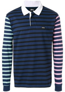 Stussy long sleeved polo shirt - Blue