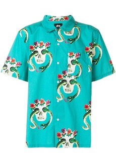 Stussy printed shortsleeved shirt - Green