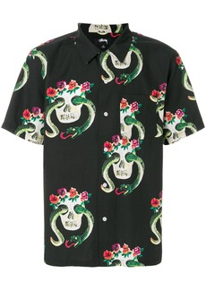 Stussy skull pattern shirt - Black