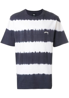 Stussy striped logo T-shirt - Black