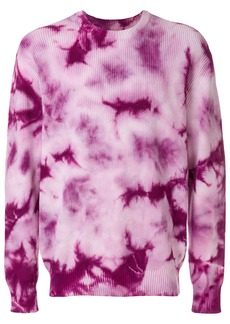 Stussy tie-dye ribbed jumper - Pink & Purple