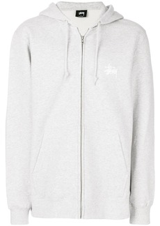 Stussy zipped hooded sweatshirt - Grey