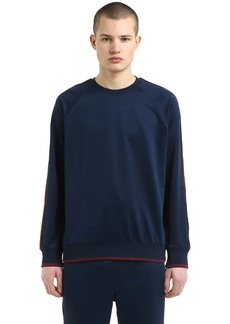 Stussy Techno & Cotton Sweatshirt W/ Logo Bands