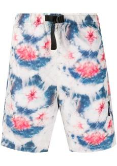 Stussy tie dye print shorts