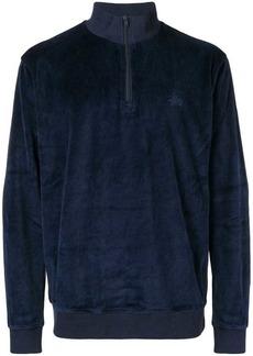 Stussy velvet zipped jumper