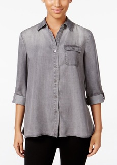 Style&co. Style & Co. Button-Back Denim Shirt, Only at Macy's