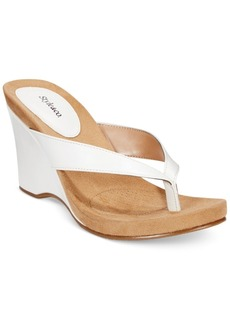 Style&co. Style & Co. Chicklet Wedge Thong Sandals, Only at Macy's Women's Shoes