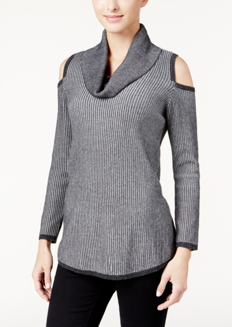 Style&co. Style & Co. Cowl-Neck Cold-Shoulder Sweater, Only at ...