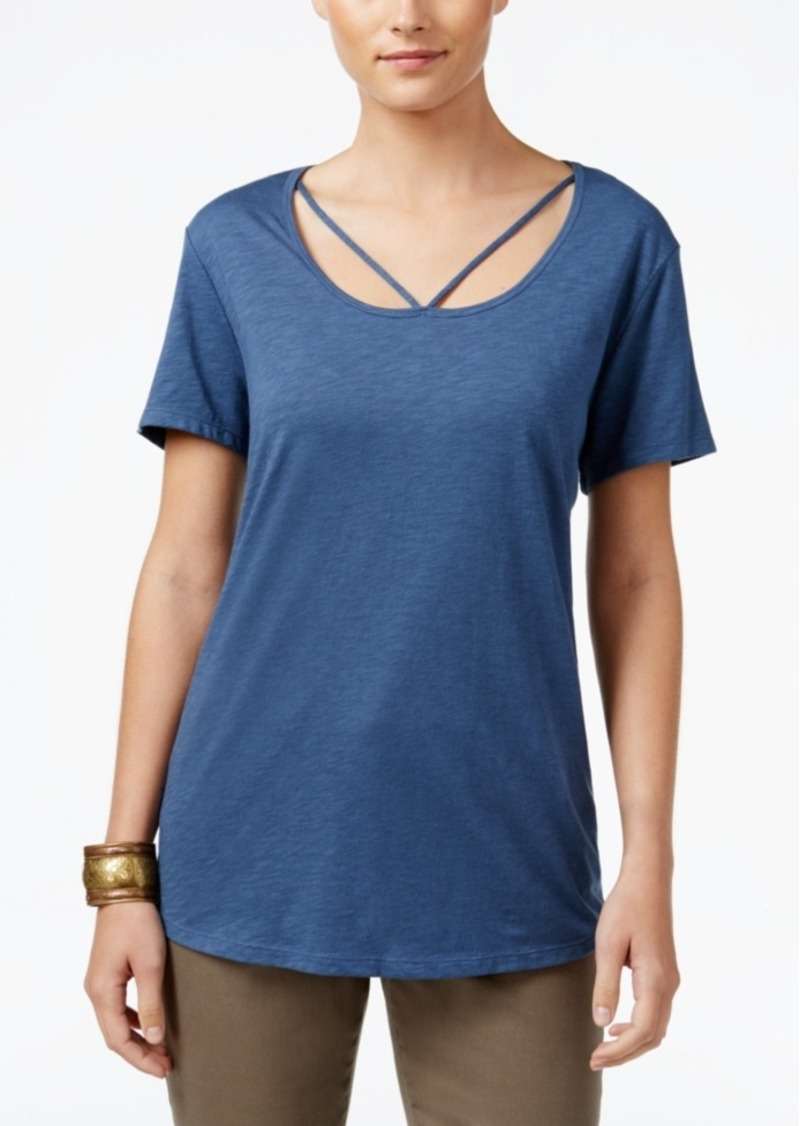 Style&co. Style & Co. Cutout-Neck Top, Only at Macy's