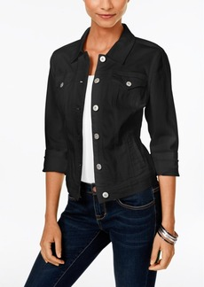 Style&co. Style & Co. Petite Black Rinse Denim Jacket, Only at Macy's