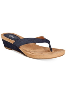 Style&co. Style & Co. Haloe2 Wedge Thong Sandals, Only at Macy's Women's Shoes