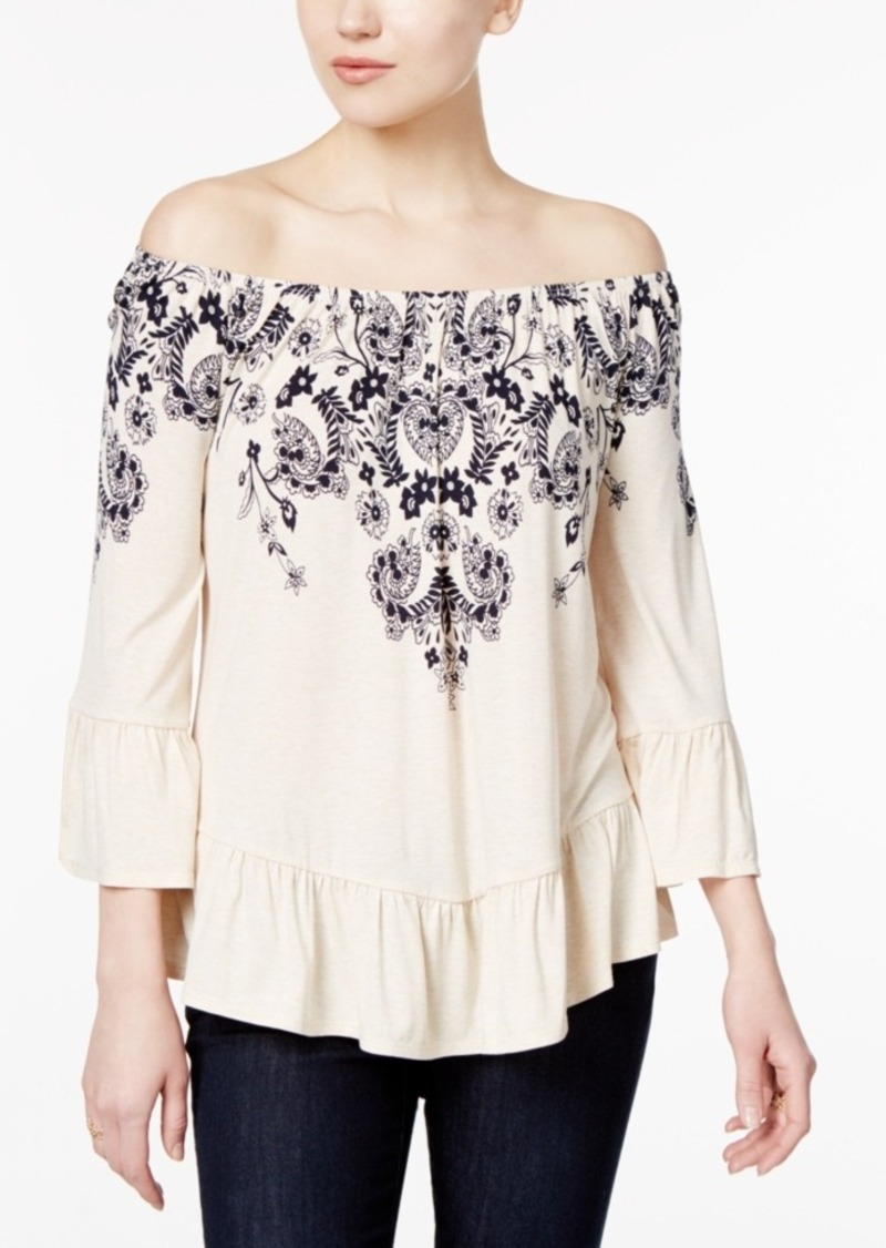 Style&co. Style & Co. Off-The-Shoulder Peplum Top, Only at Macy's
