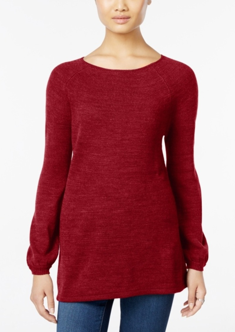 Style&co. Style & Co. Petite Boat-Neck Swing Sweater, Only at Macy's