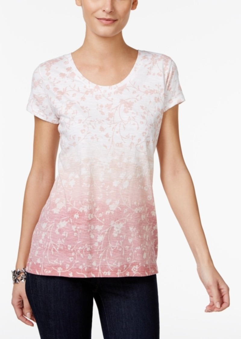 Style&co. Style & Co. Petite Floral-Print Top, Only at Macy's