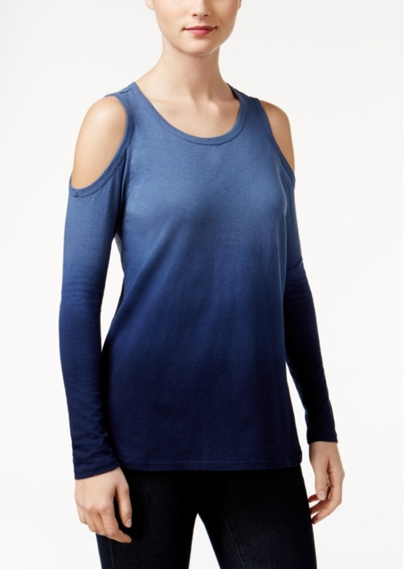 Style&co. Style & Co. Petite Ombre Cold-Shoulder Top, Only at Macy's