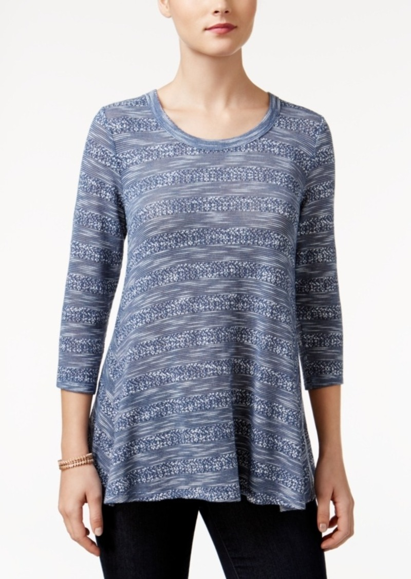 Style&co. Style & Co. Petite Striped Slub Top, Only at Macy's