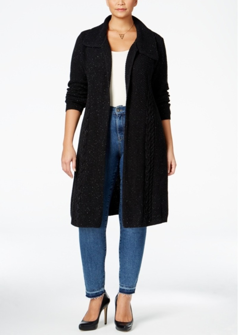 Styleco Style Co Plus Size Cable Knit Duster Cardigan Only At
