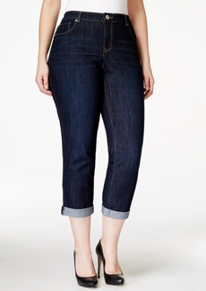 Style&co. Style & Co. Plus Size Curvy-Fit Cuffed Ex-Boyfriend Jeans, Caneel Wash