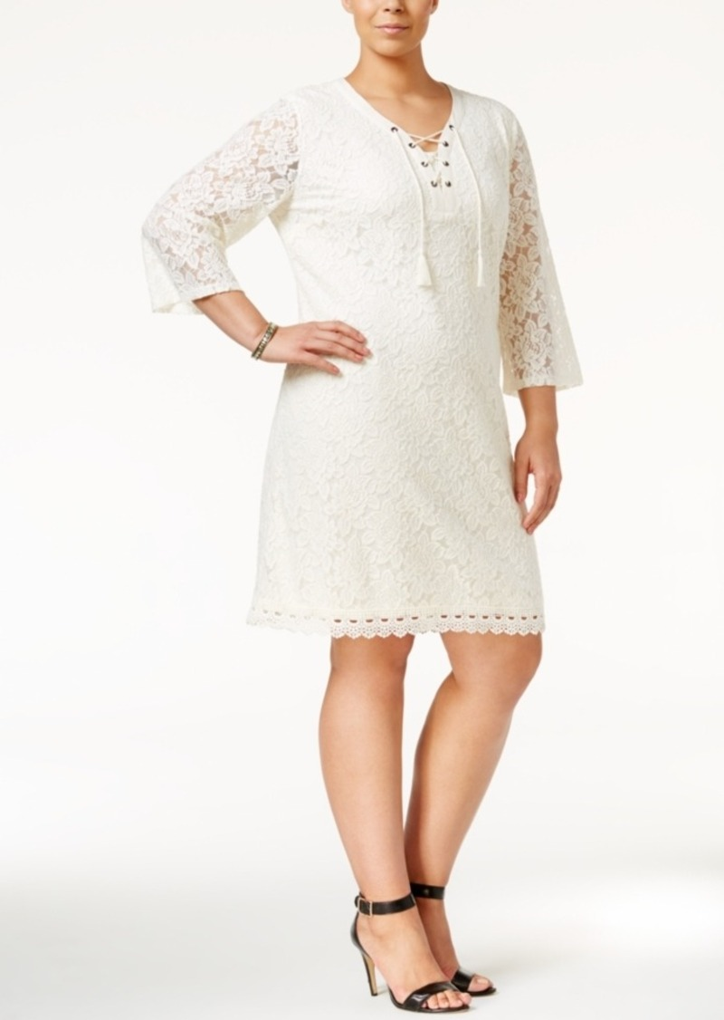 Style&co. Style & Co. Plus Size Lace Peasant Dress, Only at Macy\'s ...