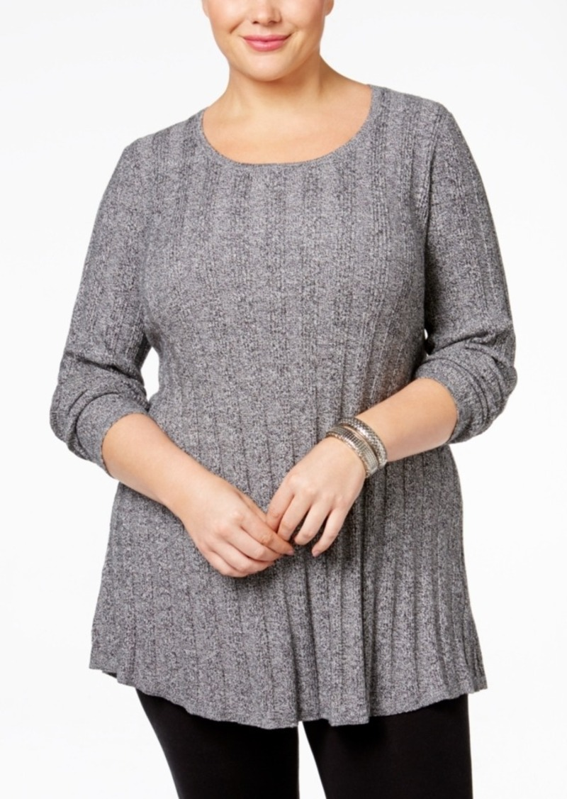Style&co. Style & Co. Plus Size Rib-Knit Tunic Sweater, Only at ...