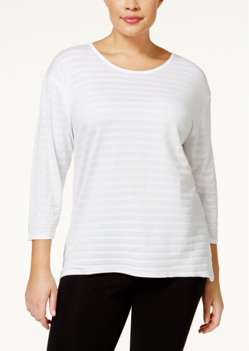Style&co. Style & Co. Plus Size Striped High-Low Top, Only at Macy's