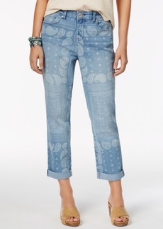 Style&co. Style & Co. Printed Boyfriend Bandana Wash Jeans, Only at Macy's