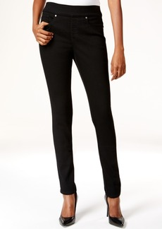 Style&co. Style & Co. Pull-On Slim Straight-Leg Jeans, Black Wash, Only at Macy's