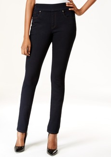 Style&co. Style & Co. Pull-On Rinse Wash Slim Straight-Leg Jeans, Only at Macy's