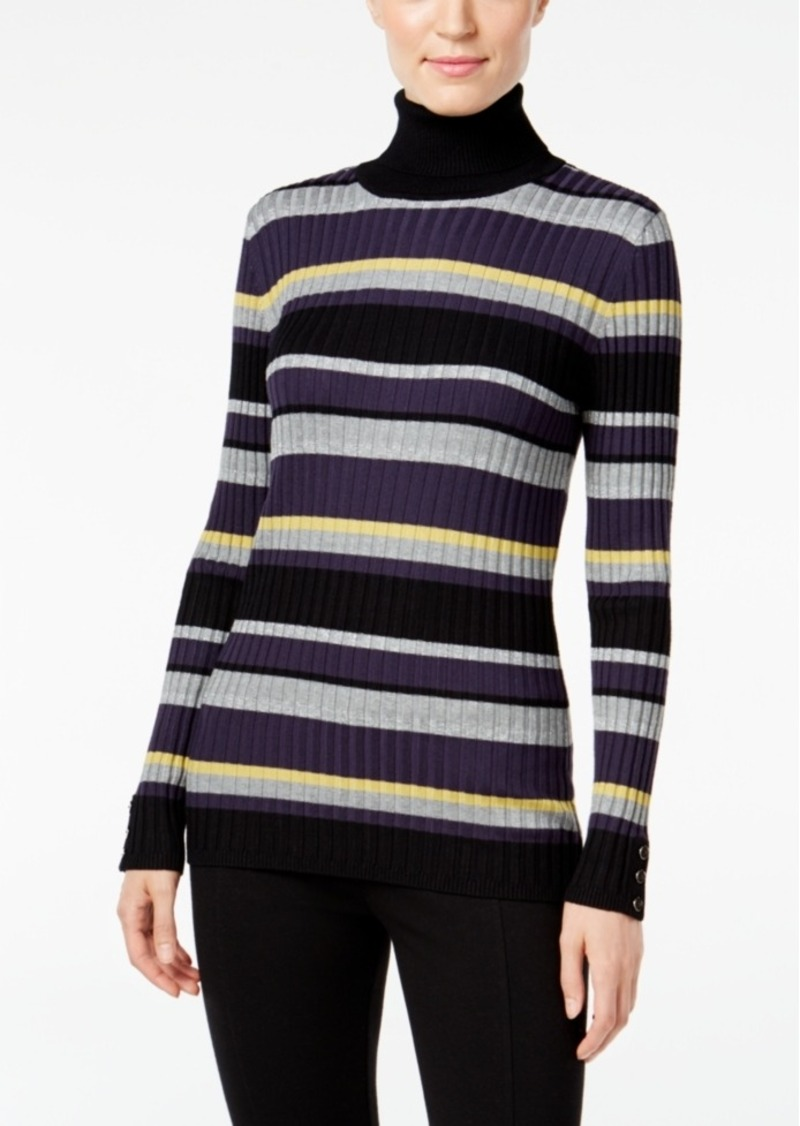 Style&co. Style & Co. Striped Turtleneck Sweater, Only at Macy's ...